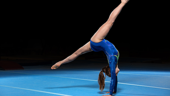 Young gymnast doing the floor exercise
